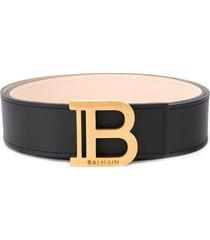 balmain wide b-belt - black