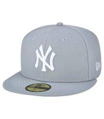 boné new era 59fifty new york yankees aba reta fitted cinza