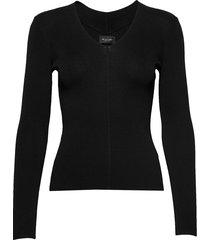 5181 - barney sleeves gebreide trui zwart sand