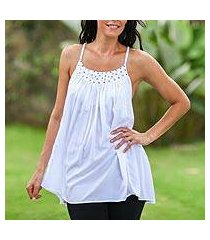 sequined halter top, 'elegance in white' (indonesia)