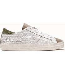 d.a.t.e. sneakers hill low vintage perf colore bianco