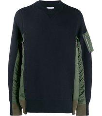 sacai pocket sleeve sweatshirt - blue