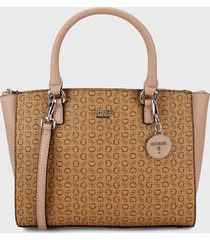bolso camel-nude guess