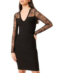 women's french connection odelia lace tobey long sleeve sweater dress