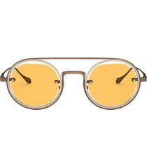 giorgio armani giorgio armani ar6085 brushed bronze / matte pale gold sunglasses