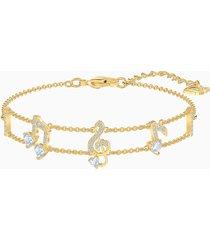 braccialetto pleasant, bianco, placcato oro