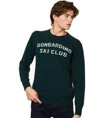 mc2 saint barth bombardino ski club green mans sweater