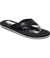 hilfiger badge beach sandal shoes summer shoes sandals svart tommy hilfiger