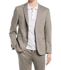 men's boss norwin trim fit stretch sport coat, size 42 short - beige