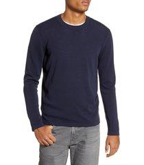 men's benson long sleeve crewneck sweater, size xx-large - blue