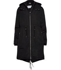 lightweight nylon parka parka lange jas jas zwart calvin klein