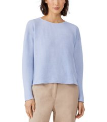 eileen fisher organic ribbed sweater