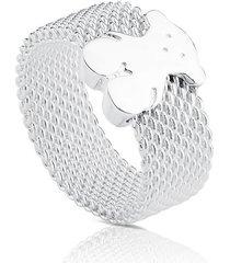 anillo mesh de plata
