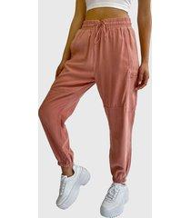 pantalón hering jogger rosa - calce regular
