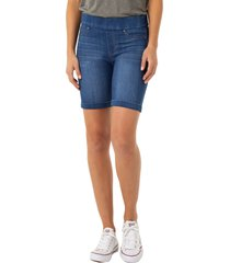 women's liverpool roxie pull-on shorts, size 8 - blue