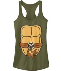 fifth sun teenage mutant ninja turtles women's michelangelo body racerback tank top