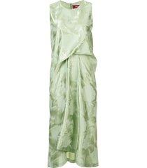 lottie brushed gathered dress green
