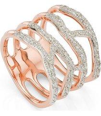 rose gold riva waterfall cocktail diamond ring diamond