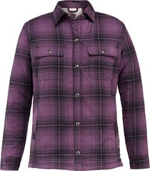 wolverine rosewood sherpa lined shirt jac eggplant plaid, size s