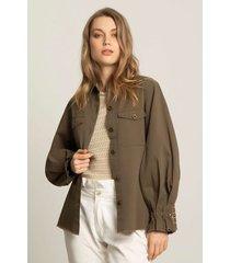 chaqueta militar para mujer drill