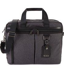 tumi women's medium densmore top-zip briefcase - grey