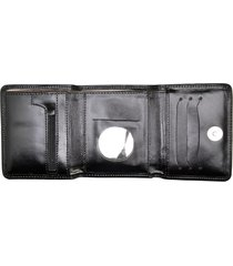 carteira de couro menor hendy bag preto fosco sem plastico