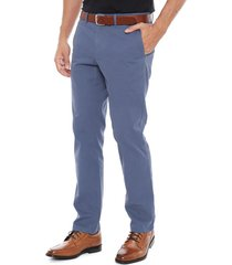 pantalón regular básico azul tommy hilfiger