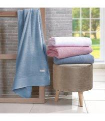 kit 4 toalhas de rosto glamour corpo canelado oceano - tessi