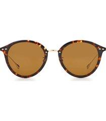 women's isabel marant 52mm round sunglasses - havana gold/ brown