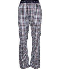big check pajama pants mjukisbyxor blå gant
