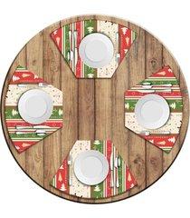 jogo americano   para mesa redonda wevans merry christmas  love decor - multicolorido - dafiti