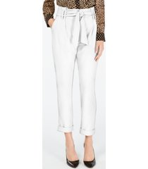 inc tapered-leg paperbag pants, created for macy's