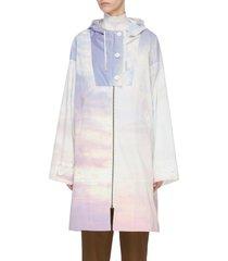 'bachette' sky dye zip windbreaker coat