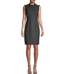 herringbone weave sheath dress