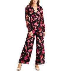 bar iii printed wide-leg jumpsuit, created for macy's