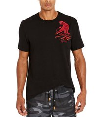 avirex men's embroidered panther t-shirt