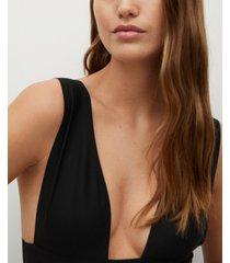 mango women's open neckline bodysuit