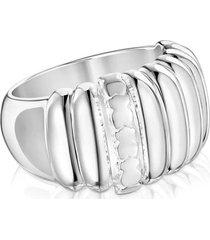 anillo basics gallones de plata plateado tous