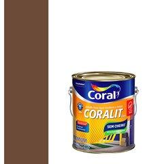 esmalte sintético a base de água brilhante coralit tabaco 3,6l - coral - coral