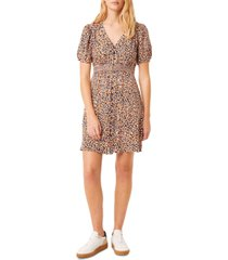 french connection cape drape printed dress