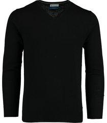 bos bright blue aron v-neck pullover 20305ar21bo/990 black