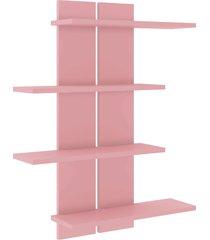 nicho decorativo 636x800x160 mm rosa movelbento - rosa - dafiti