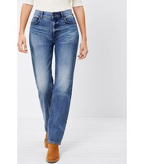 loft curvy fresh cut high rise straight crop jeans in authentic dark indigo wash