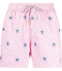 mc2 saint barth star-print swim shorts - pink