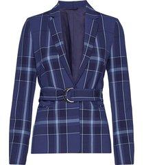2nd anya maxi-check blazer blå 2ndday