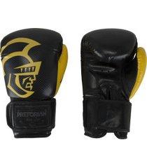 luvas de boxe pretorian black line - 12 oz - adulto - preto/amarelo