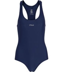 maiô para natação com proteção solar uv fila austrália - adulto - azul escuro