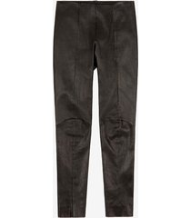 leather leggings black 42