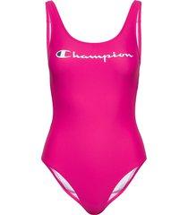 swimming suit baddräkt badkläder rosa champion