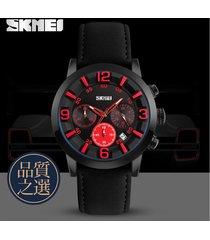 reloj de negocios multifuncional para hombres-rojo